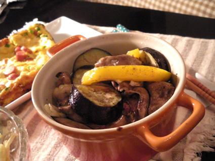 20130720 茄子と鶏レバーのオリーブオイル煮.jpg